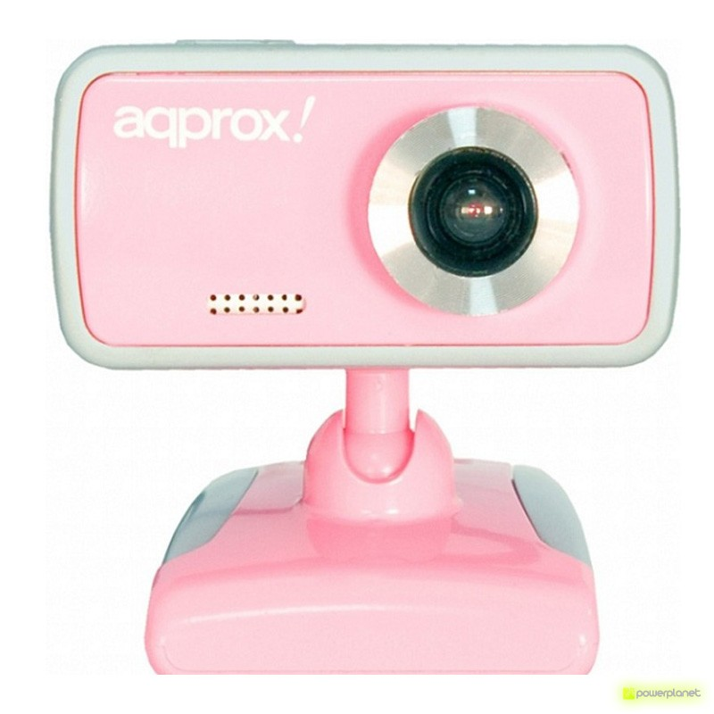 APPROX WEBCAM USB 2.0 COM MICROFONE ROSA - Item
