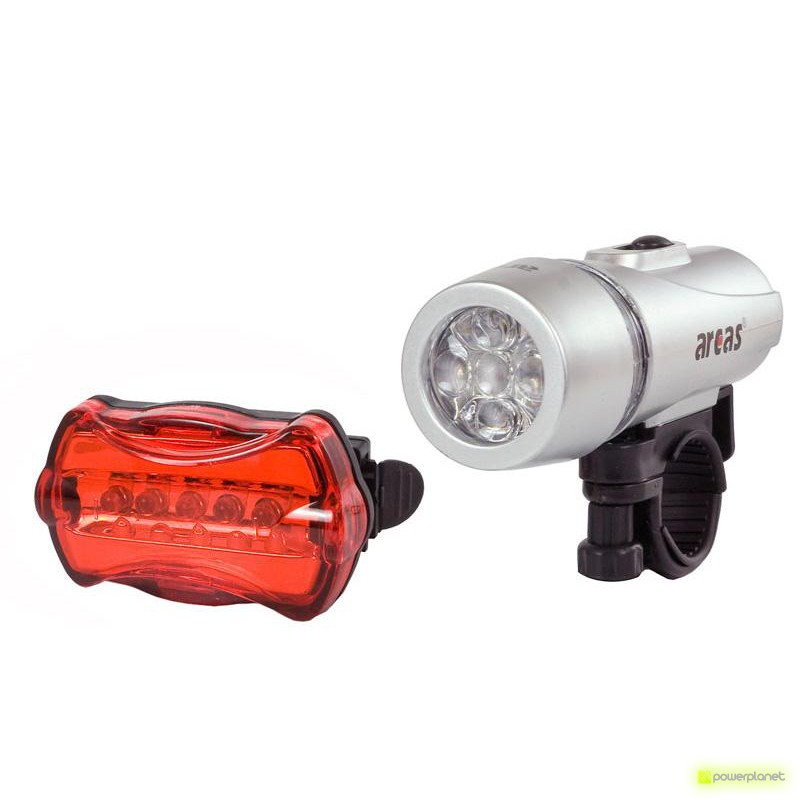 Arcas 5 LED conjunto lâmpada móvel com luz de fundo e apego
