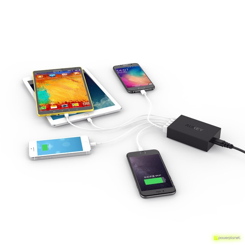 AUKEY PA-T1 Cargador de 5 Puertos USB - Ítem1