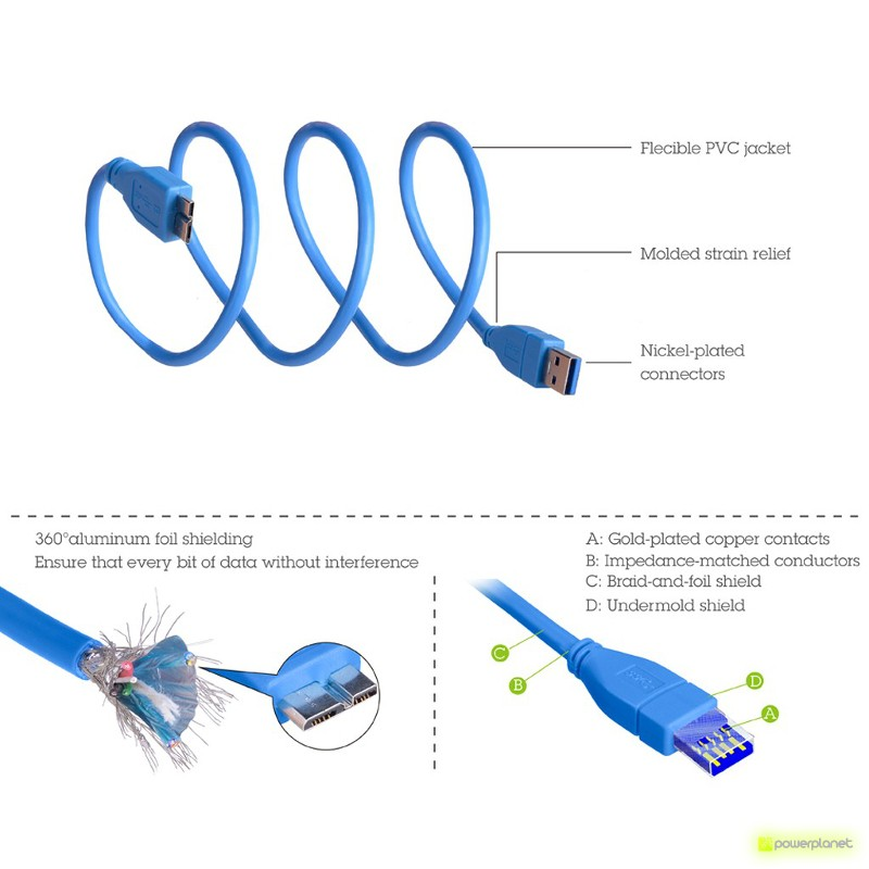 Avantree USB3.0 Type A to Micro-B Cable - Item2