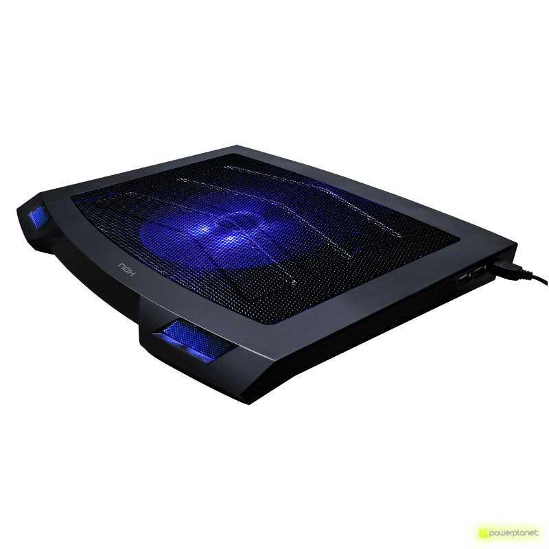 base portatil con led azul