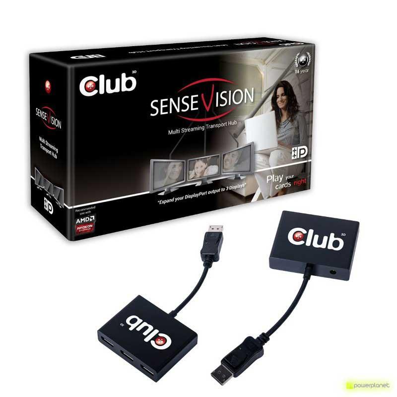 CLUB3D VGA C3D SenseVision MST HUB 3-1 DP