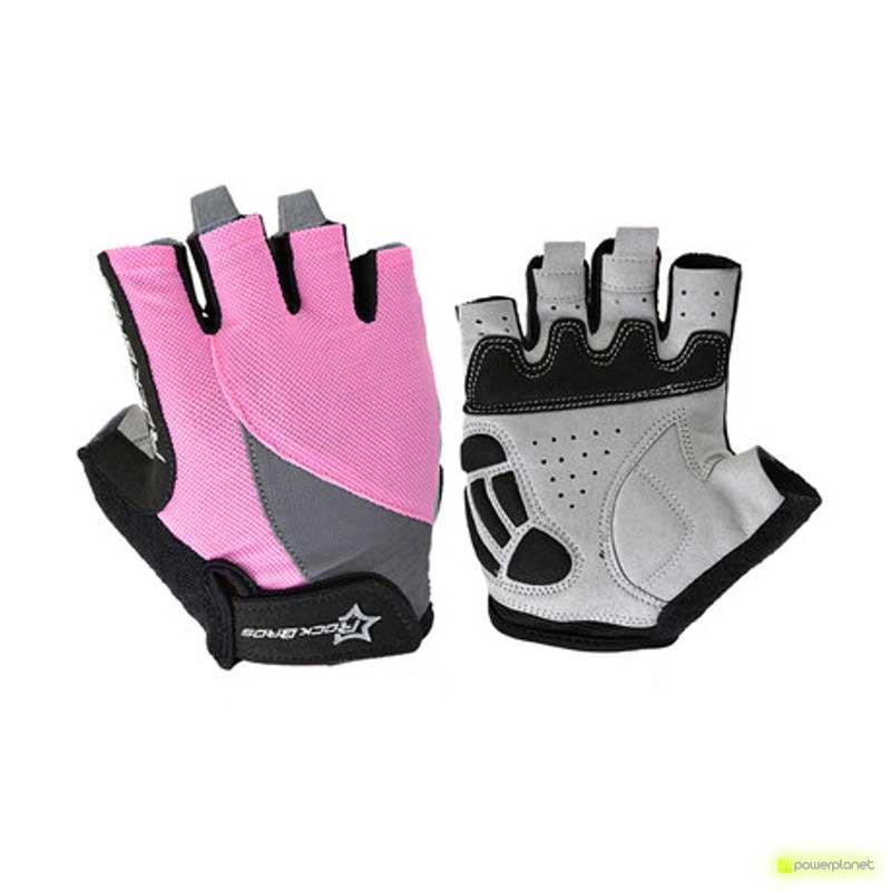 Luvas curtas rosa Rockbros