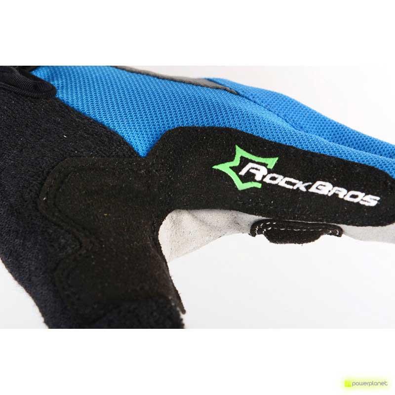 Luvas bici Rockbros Anti-Slip Azul - Item6