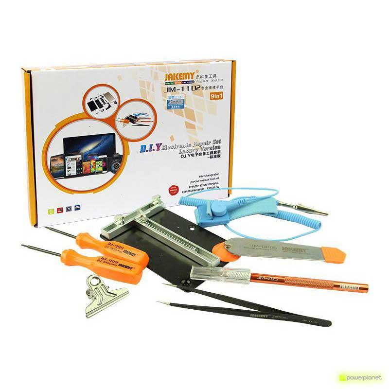 Jakemy Kit 9 en 1 Iniciacion a la Reparación Electronica JM-1102