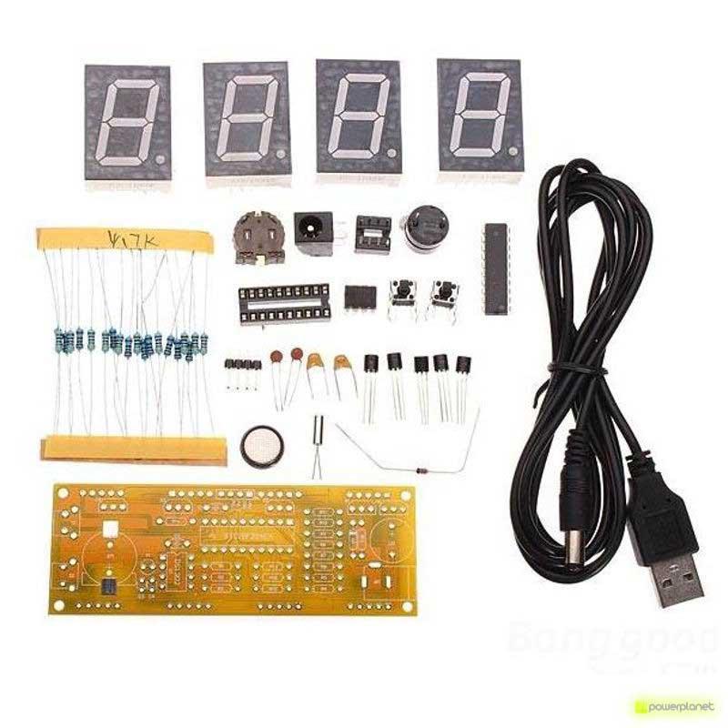 Kit DIY relógio LED 4 Dígitos