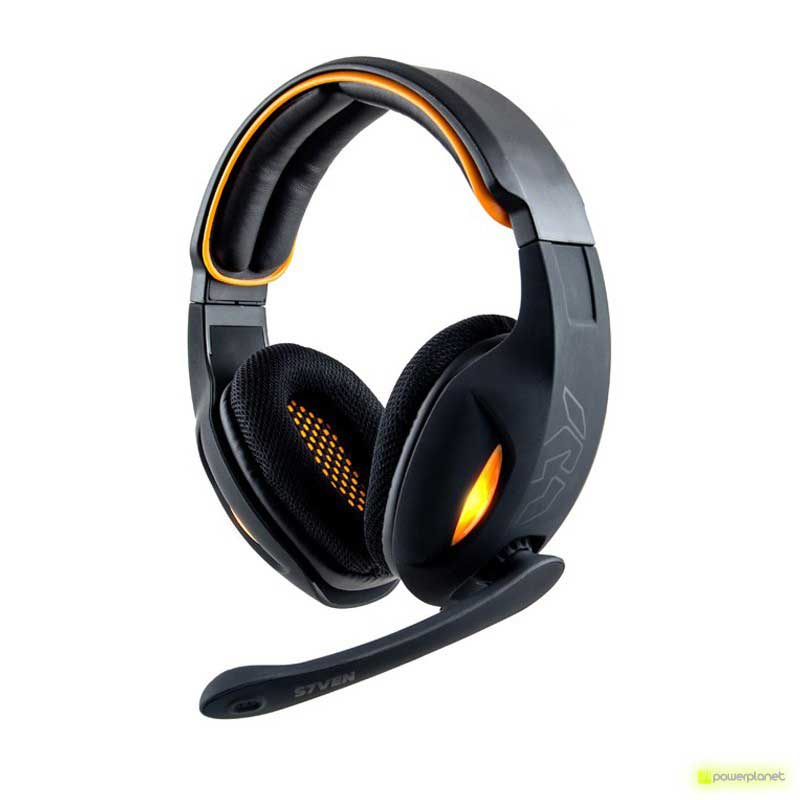 Auricular gaming NOX S7VEN 7.1 USB Negro/Naranja