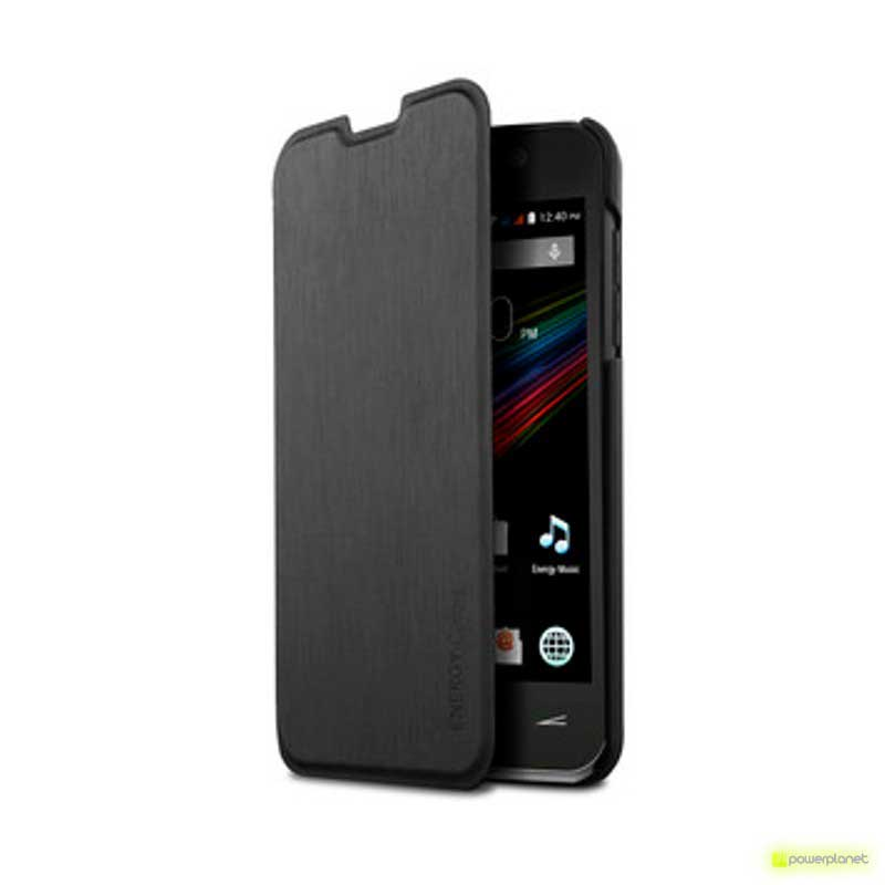 Caso tipo livro Energy Phone Colors Preto