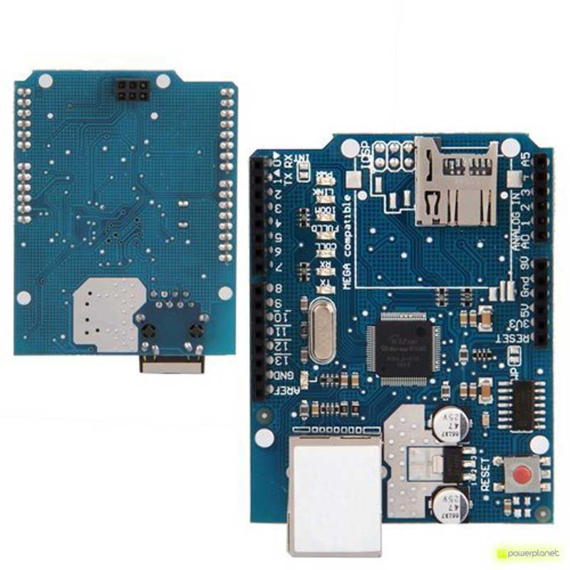 Ethernet module Shield W5100 with Micro-SD slot for Arduino - Item3