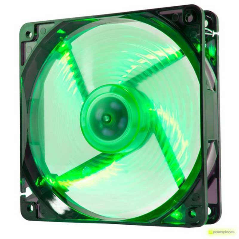 Ventilador Caja NOX Cool Fan 12cm LED Verde