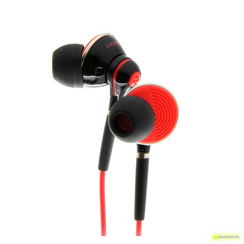 Auricular Gaming OZONE Oxygen In-Ear Negro/Rojo