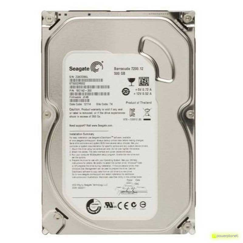 Disco Duro Seagate Barracuda 500GB SATA3 3.5