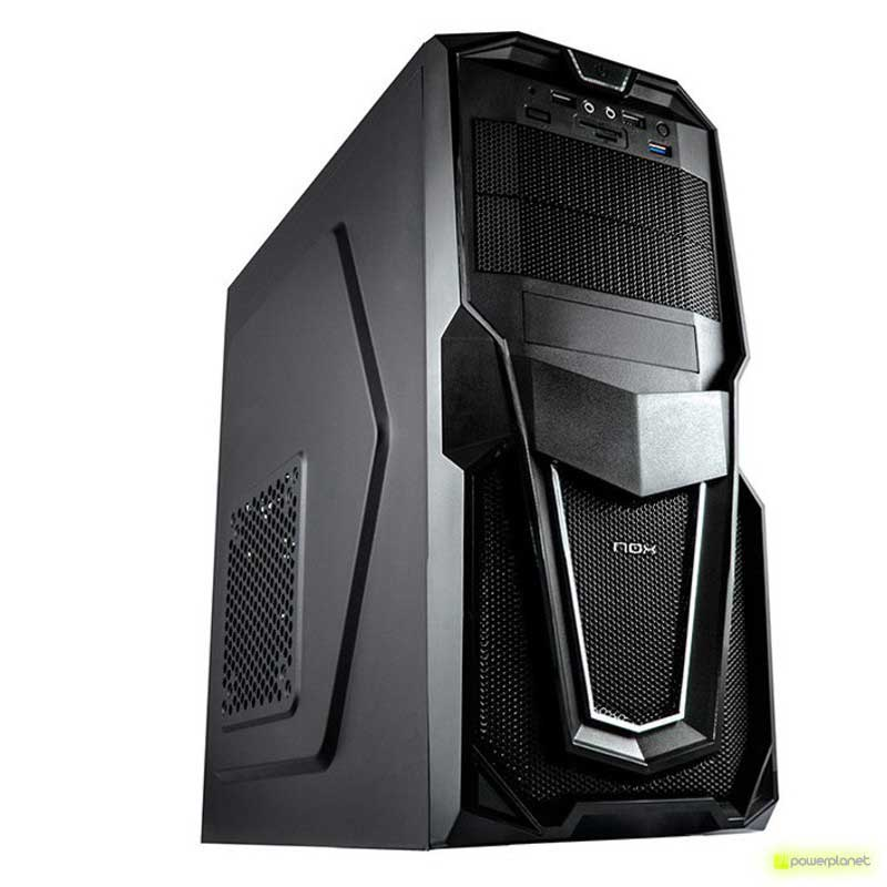 Semitorre NOX Raven Negra USB 3.0 Lector SD/m-SD