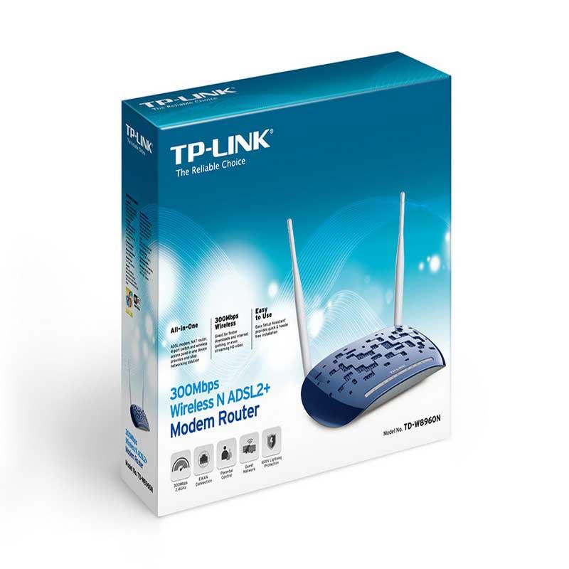 TP-LINK TD-W8960N Modem Router ADSL2 + Inalámbrico N a 300Mbps - Ítem4