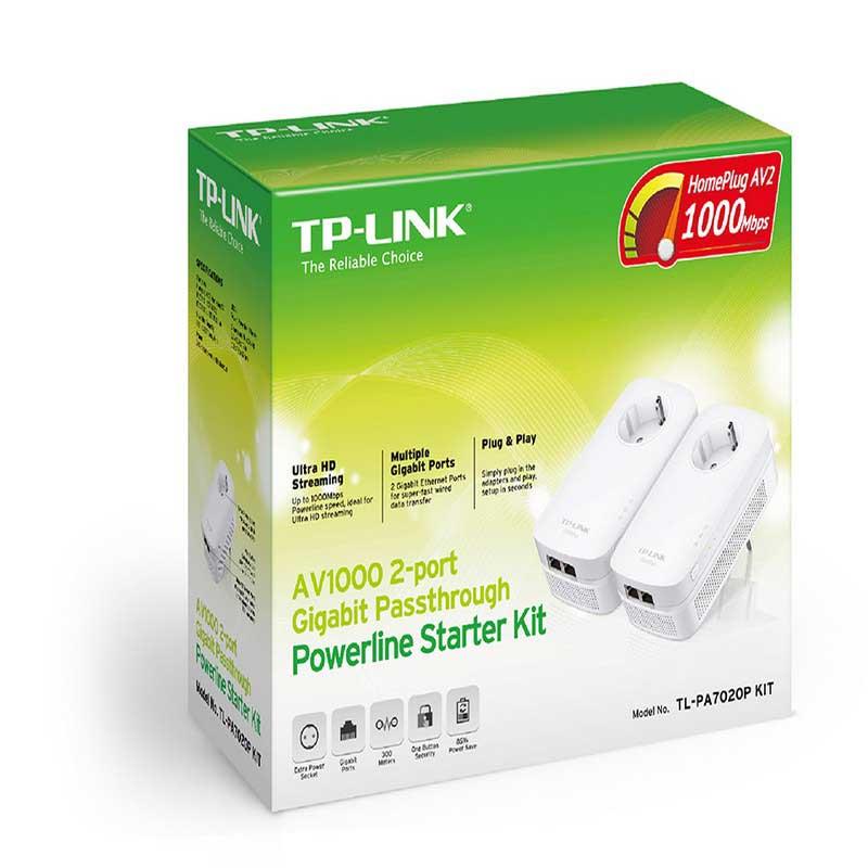 TP-LINK TL-PA7020P KIT Kit de Inicio Powerline AV1000 con 2 puertos Gigabit y Enchufe Incorporado - Ítem2