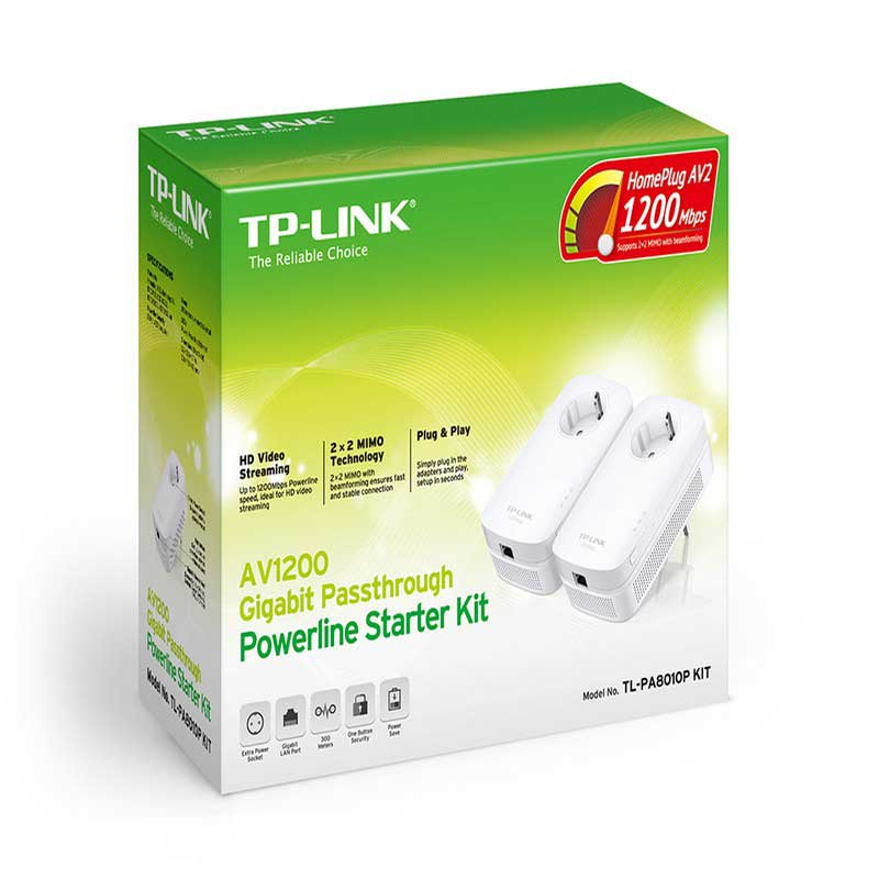 TP-Link TL-PA8010P KIT Powerline Passthrough Starter Kit Gigabit AV1200 - Item2