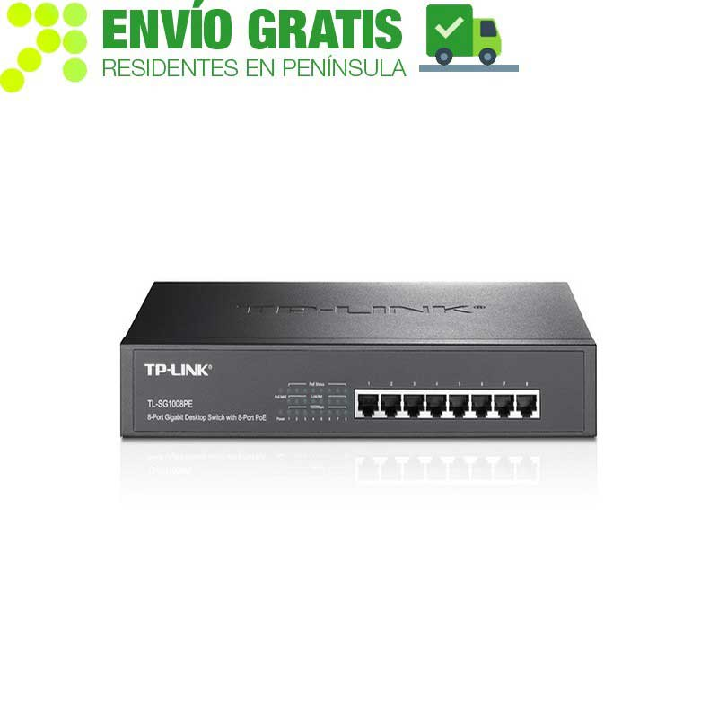TP-Link TL-SG1008PE Switch to desktop / chassis with 8-port Gigabit PoE