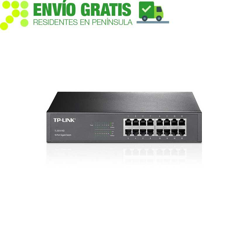 TP-Link TL-SG1016D Gigabit Switch with 16 ports - Item