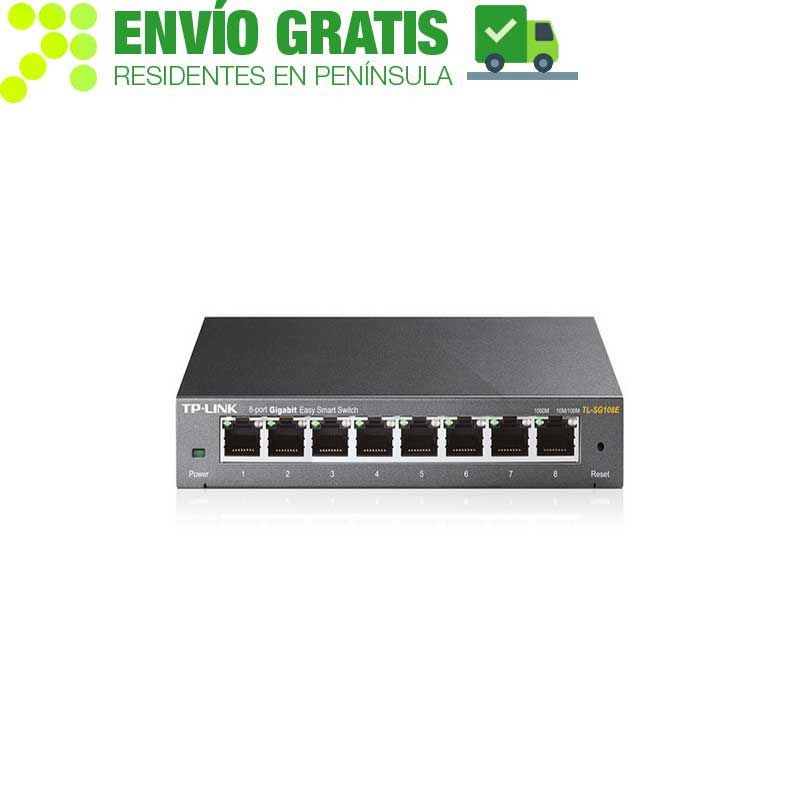 TP-LINK TL-SG108E Switch Easy Smart de 8 puertos Gigabit - Ítem