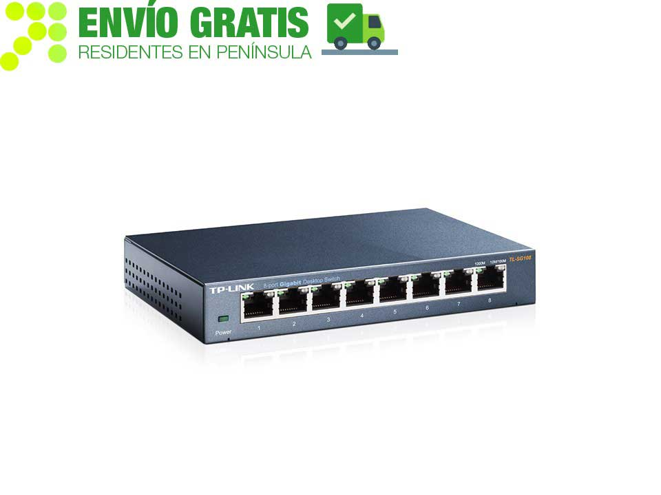 TP-Link TL-SG108 Desktop Switch with 8 ports 10/100/1000 Mbps