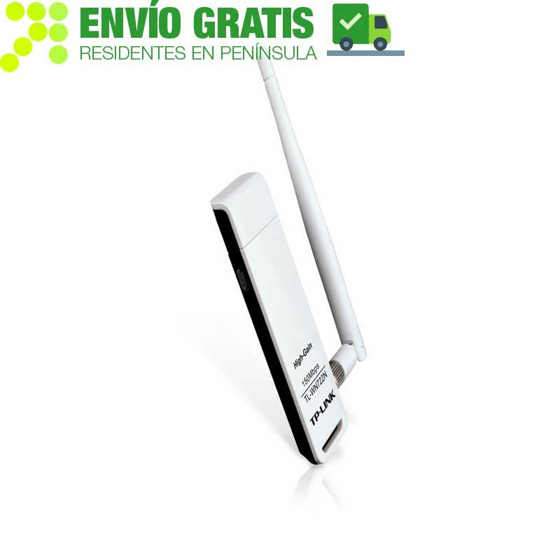 TP-LINK TL-WN722N Adaptador USB Inalámbrico de Alta Sensibilidad a 150 Mbps