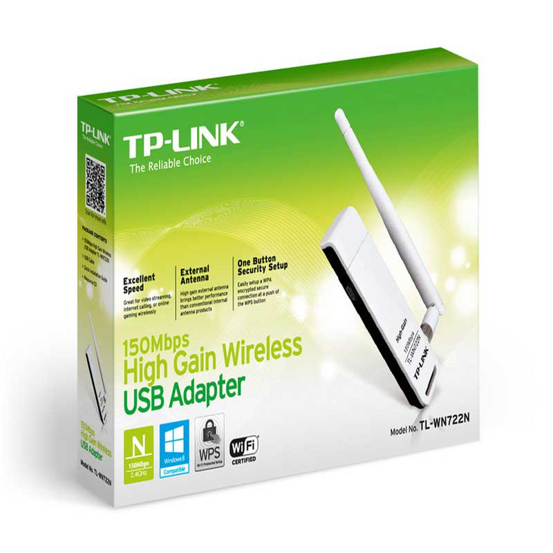 TP-Link TL-WN722N Wireless USB Adapter 150Mbps High Sensitivity - Item1