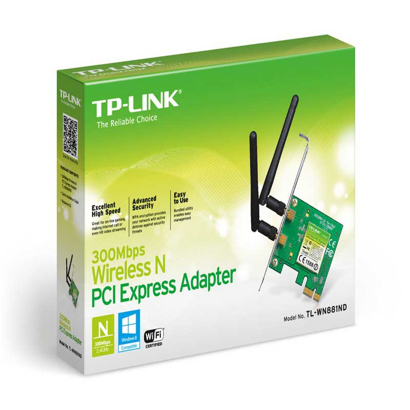 TP-LINK TL-WN881ND Adaptador PCI Express inalámbrico N a 300 Mbps - Ítem1