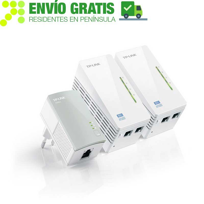 TP-Link TL-WPA4220TKIT KIT Universal Powerline Extender Coverage Wi-Fi AV500, 2 Ethernet Ports