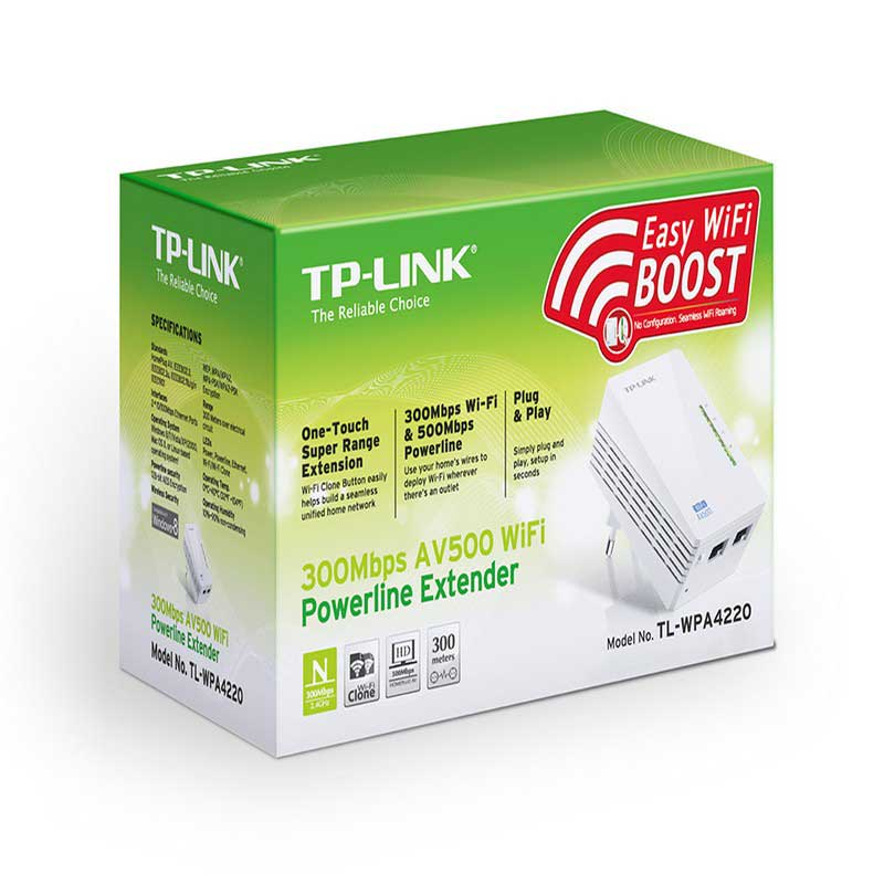 TP-LINK TL-WPA4220 Extensor Powerline WiFi AV500 a 300 Mbps - Ítem5