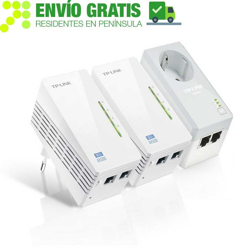 TP-LINK TL-WPA4226T KIT Kit Extensor Powerline WiFi AV500 compuesto por 3 dispositivos