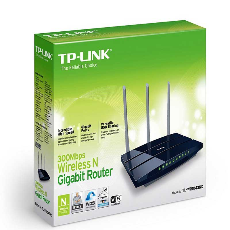 TP-Link TL-WR1043ND Wireless N Gigabit Router 450Mbps - Item5