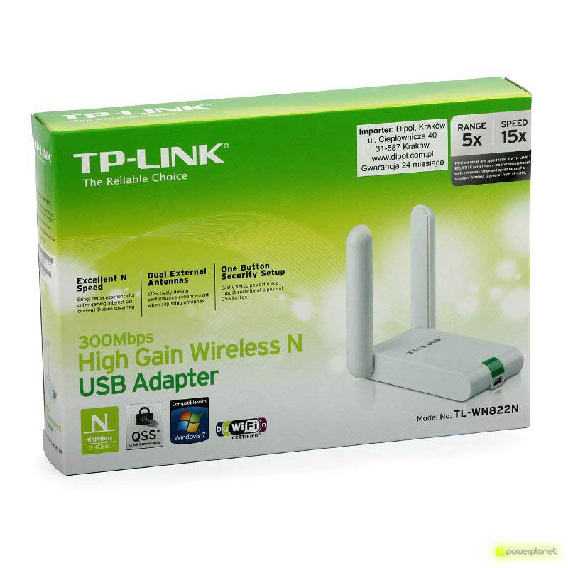 TP-Link TL-WN822N Wireless USB Adapter 300Mbps High Sensitivity - Item4