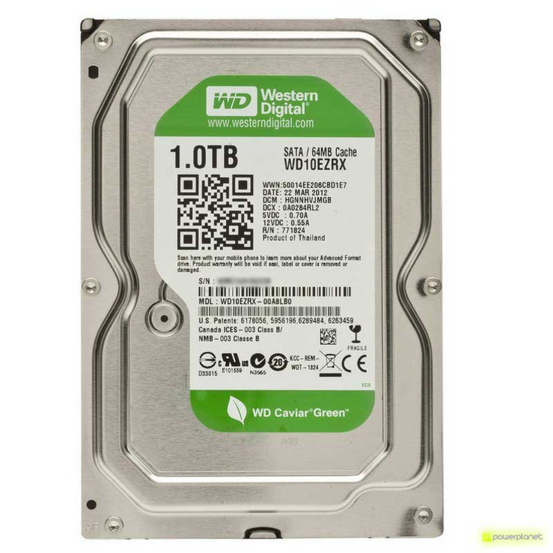Disco Rigido WD Caviar Green 1TB SATA3 3.5 - Item