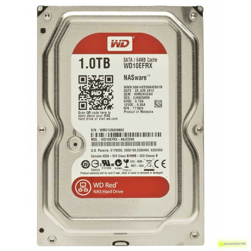 Disco Rigido WD Red 1TB SATA3 NAS 3,5