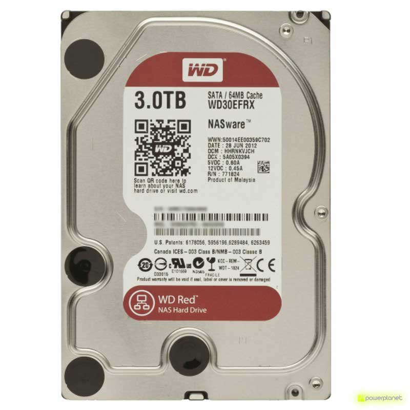 DISCO RIGIDO WD RED 3TB SATA3 NAS 3,5