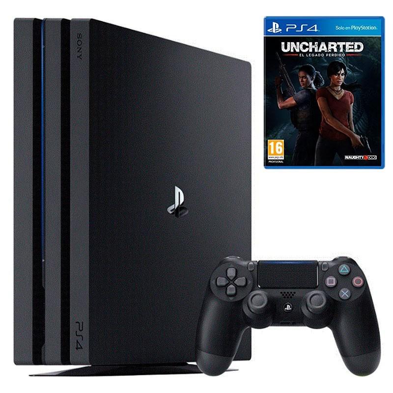 PlayStation 4 Pro 1TB Negra (PS4) + Uncharted el Legado Perdido
