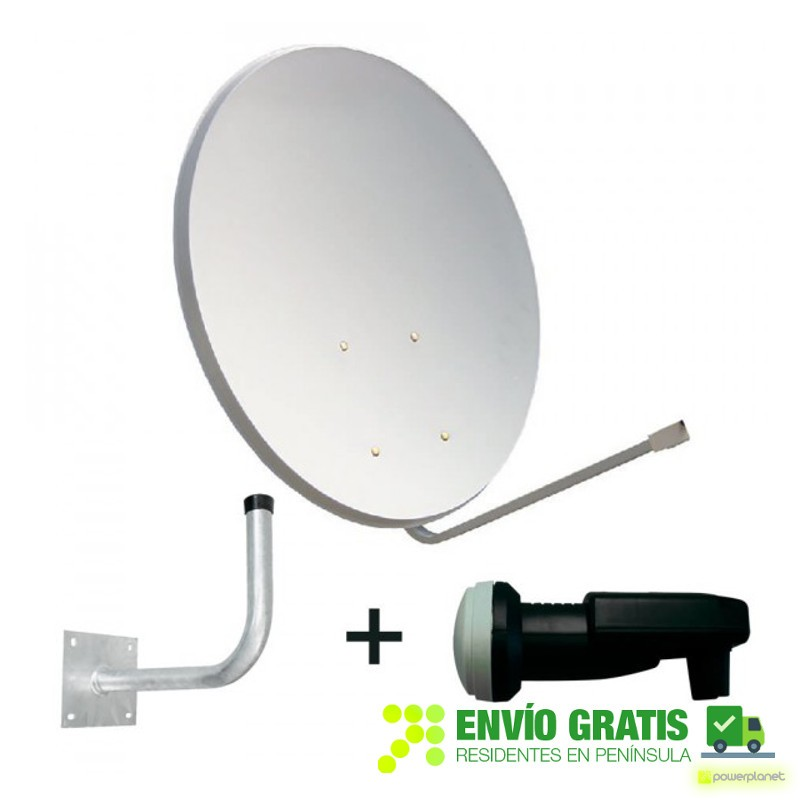 QVIART Kit Antena Parabólica + LNB + Soporte ANT010