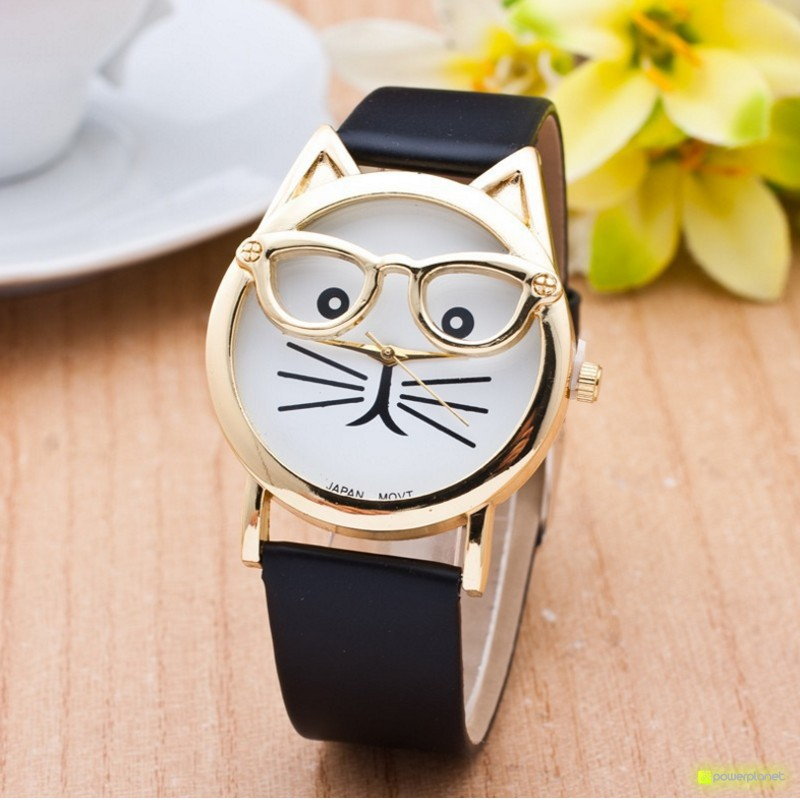 Reloj Hipster Cat