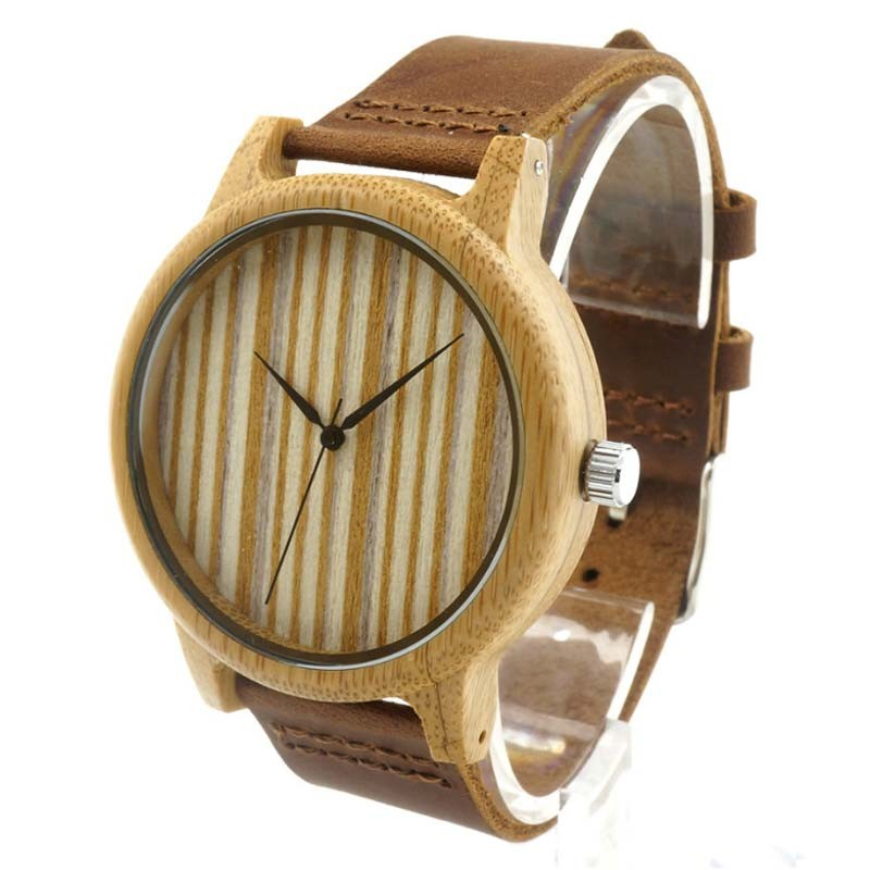 Reloj de Madera de color Avellana