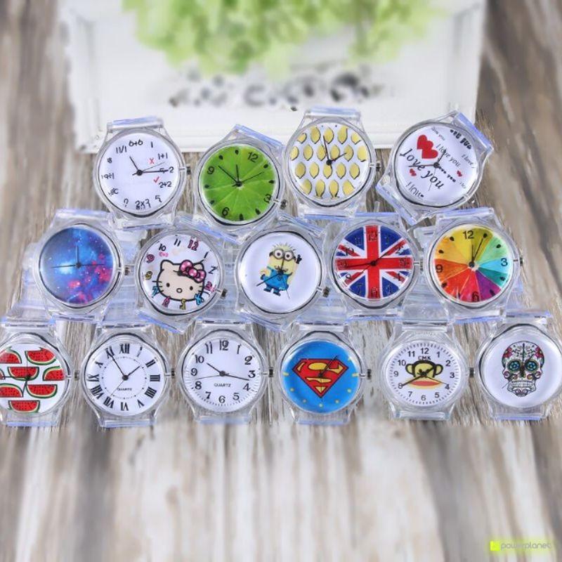 Relógio transparente Crânio - Item4