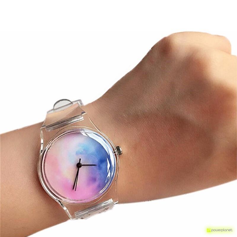 Relógio transparente Crânio - Item1