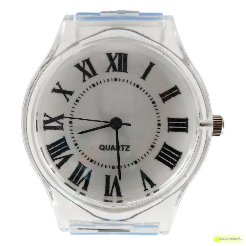 Reloj Transparente Números Romanos