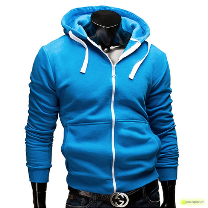 Suéter Color Zipper Azul - Homen