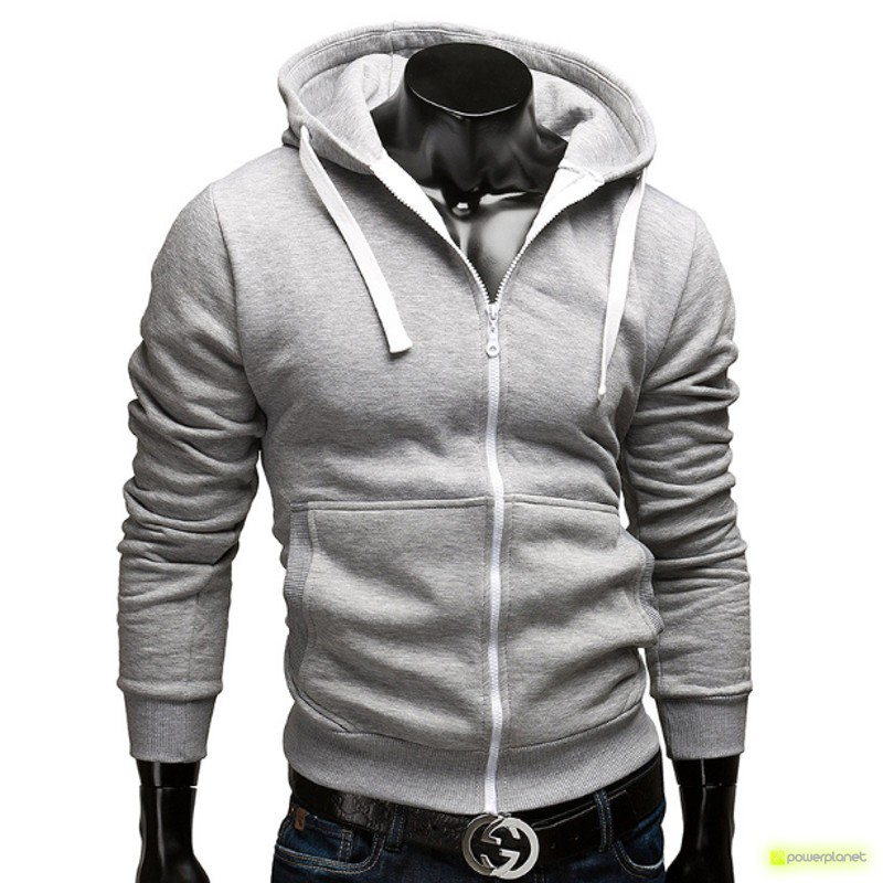 Suéter Color Zipper Cinza - Homen