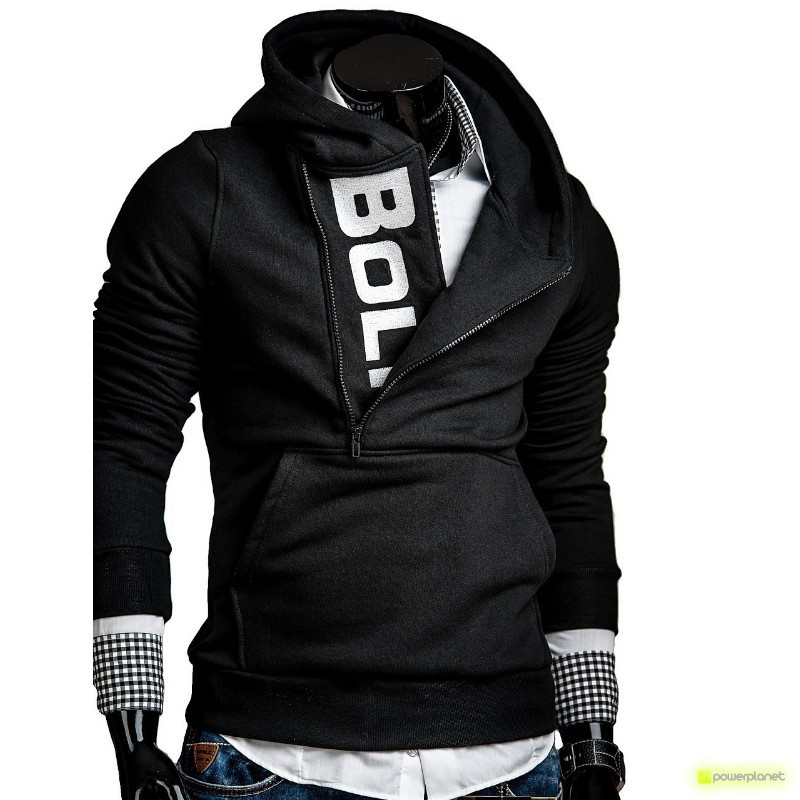 Suéter Lateral Zipper black and white - Homen