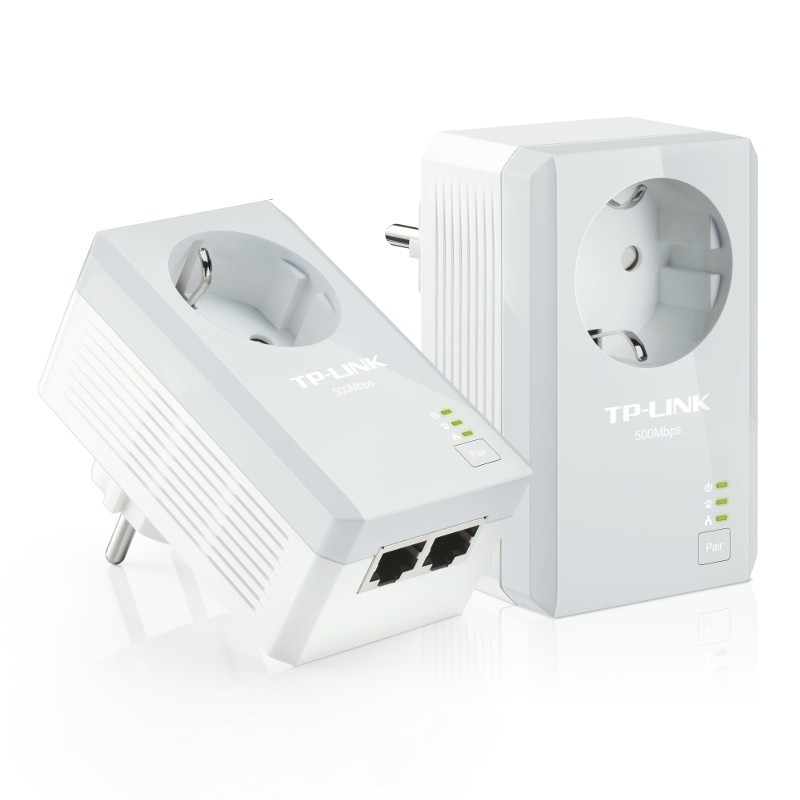 TP-Link TL-PA4020PKIT Starter Kit AV500 Powerline Adapters 2-port with built-in plug