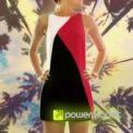 Dress Tricolor Vermelho Pasion - Mulher - Item