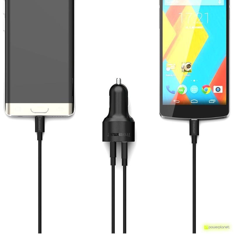 Tronsmart C2PE Carregador de Carro USB Quick Charge USB/USB Tipo-C - Item3