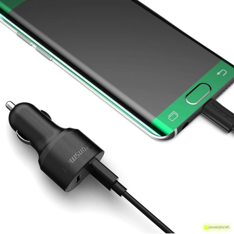 Tronsmart C2PTE Cargador de Coche USB Quick Charge 3.0 USB/USB Tipo-C - Ítem1
