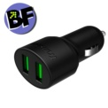 Tronsmart C2PTU Cargador de Coche USB Quick Charge 3.0 y VoltIQ USB/USB Tipo-C